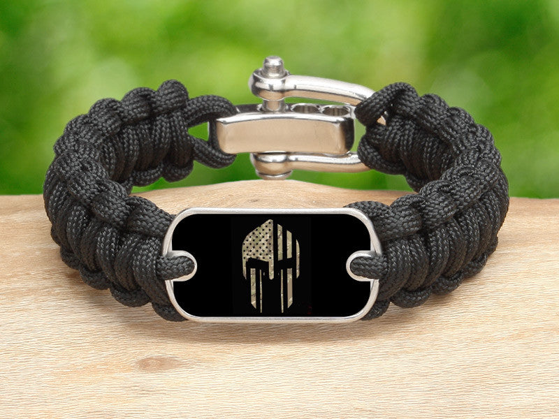 Regular Survival Bracelet™ - Spartan Camo Flag