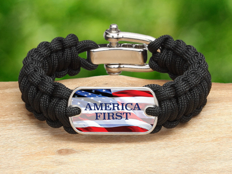 Regular Survival Bracelet™ - America First Black