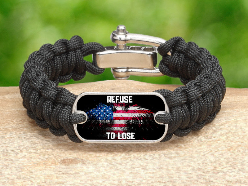 Regular Survival Bracelet™ - Refuse to Lose Eagle