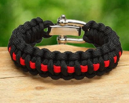 Regular Survival Bracelet™  - Firefighter Red Line