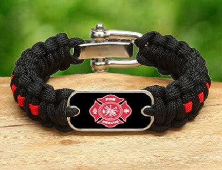 Regular Survival Bracelet™ - Firefighter Tag