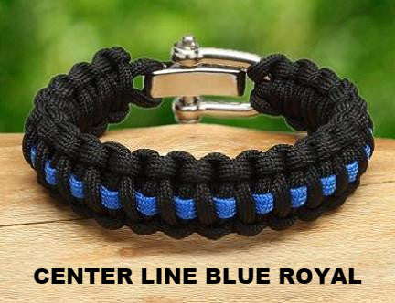Regular Survival Bracelet™ - Police Blue Line