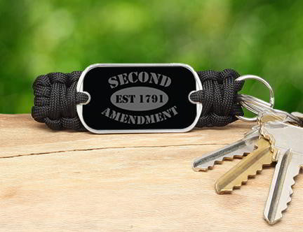 Key Fob - 2nd Amendment Est. (Gray)