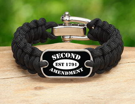 Regular Survival Bracelet - 2nd Amendment Est. (White)