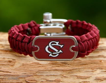 Light Duty Survival Bracelet - Officially Licensed - South Carolina Gamecocks™ V2