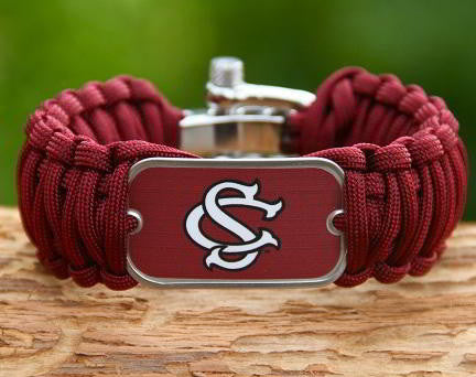 Wide Survival Bracelet - Officially Licensed - South Carolina Gamecocks™ V2