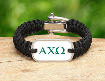 Light Duty Survival Bracelet™-Alpha Chi Omega Black