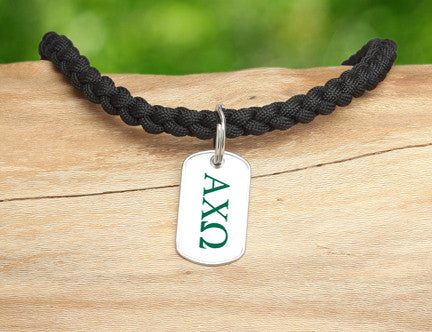 Necklace-Alpha Chi Omega Black
