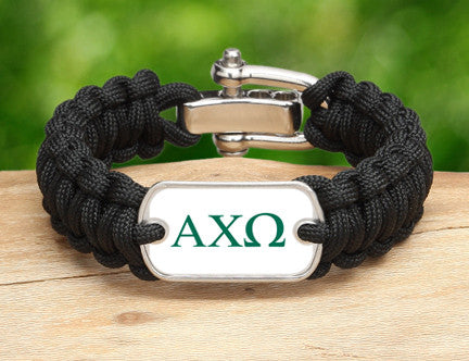 Regular Survival Bracelet™-Alpha Chi Omega Black