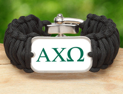 WIDE Survival Bracelet™-Alpha Chi Omega Black