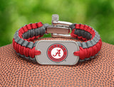 Light Duty Survival Bracelet™ - Officially Licensed - Alabama® Crimson Tide®
