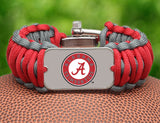 Wide Survival Bracelet™ - Officially Licensed - Alabama®  Crimson Tide®