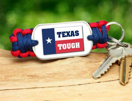 Key Fob - Texas Tough Flag Logo