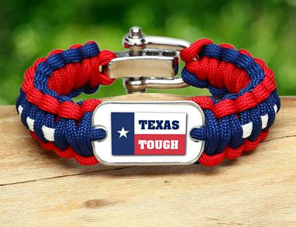 Regular Survival Bracelet™ - Texas Tough Flag Logo