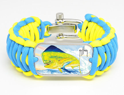 WIDE Survival Bracelet™-Guy Harvey-Top Fin