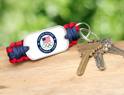 Key Fob - US Olympic Team (White)