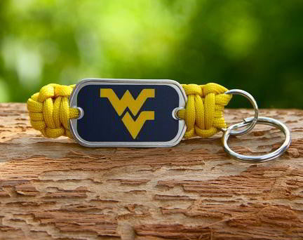 Key Fob - Officially Licensed - West Virginia Mountaineers® V2
