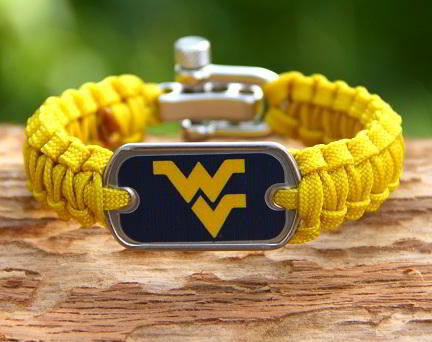Light Duty Survival Bracelet™ - Officially Licensed - West Virginia®  Mountaineers® V2