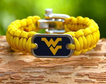 Regular Survival Bracelet™ - Officially Licensed - West Virginia®  Mountaineers® V2