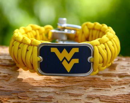 Wide Survival Bracelet™ - Officially Licensed - West Virginia®  Mountaineers® V2