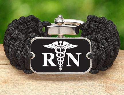 Wide Survival Bracelet™ - Resistered Nurses Tag