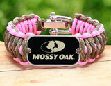 Wide Survival Bracelet™ - Mossy® - Matches Multicam® and Rose Pink
