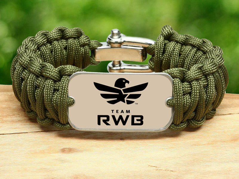 Wide Survival Bracelet™ - Team RWB Lt. OD Green