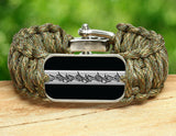 Wide Survival Bracelet™ - Corrections Officers Barbed Wire