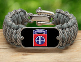 WIDE Survival Bracelet™-U.S. Army™ 82nd Airborne ACU/Foilage