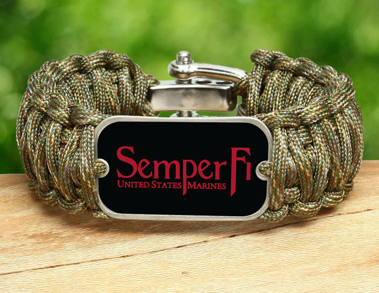 Wide Survival Bracelet™ - Red Semper Fi