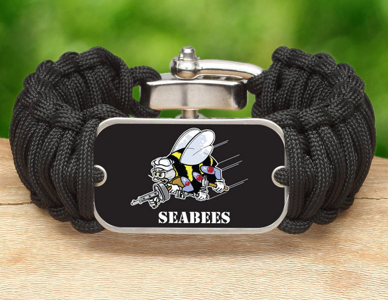 Wide Survival Bracelet™ - Officially Licensed - U.S. Navy Seabees