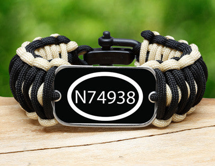 Wide Survival Bracelet™ - Call Number