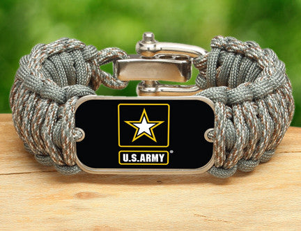 Wide Survival Bracelet - Officially Licensed - U.S. Army™ - ACU/Foliage