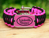 Wide Survival Bracelet - Louisville Slugger® - Black and Pink