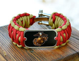 Wide Survival Bracelet - Officially Licensed - USMC