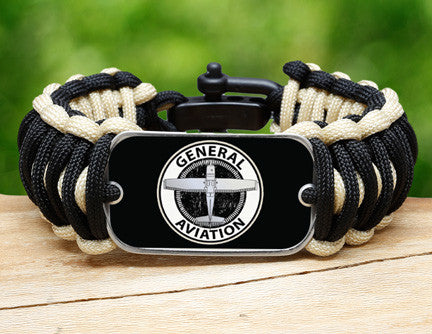 Wide Survival Bracelet™ - General Aviation Tag