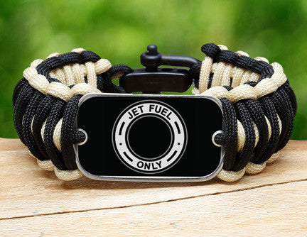 Wide Survival Bracelet™ - Jet Fuel Only Tag