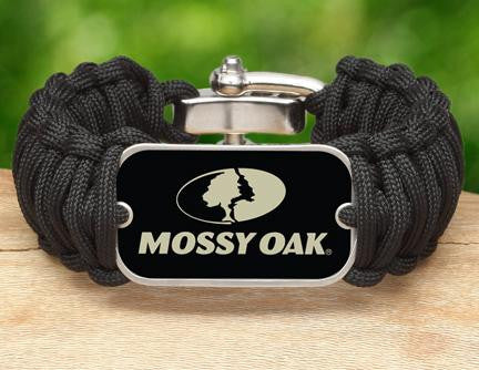 Wide Survival Bracelet™ - Mossy® - Black