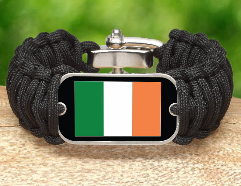 Wide Survival Bracelet™ - Irish Flag