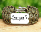 Wide Survival Bracelet™ - White Semper Fi