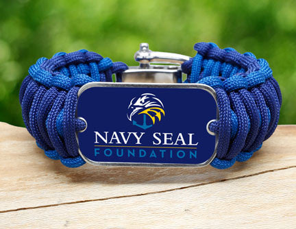 Wide Survival Bracelet™- Navy SEAL Foundation - Blue and Yellow