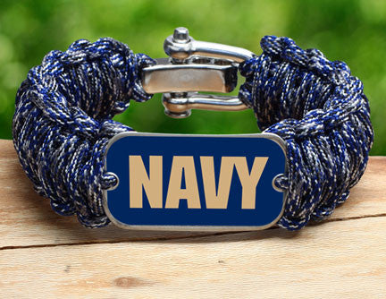 Wide Survival Bracelet - Officially Licensed - U.S. Navy - V2