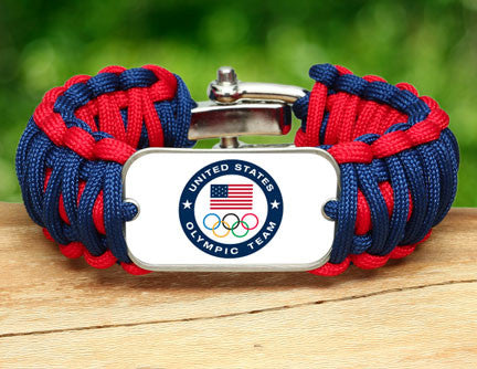 WIDE Survival Bracelet™ - US Olympic Team (White)