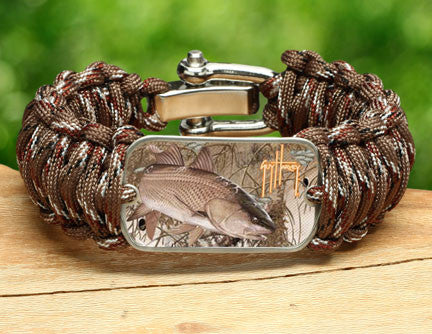 WIDE Survival Bracelet™-Guy Harvey-Redfish Camo
