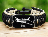 Wide Survival Bracelet™ - Private Pilot License Tag