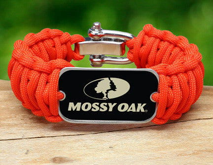 Wide Survival Bracelet™ - Mossy® - Neon Orange