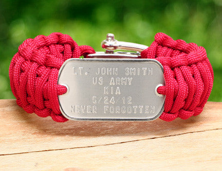 Wide Survival Bracelet™ - RED Friday Custom Embossed