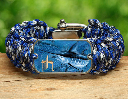 WIDE Survival Bracelet™-Guy Harvey-Blue Marlin Camo