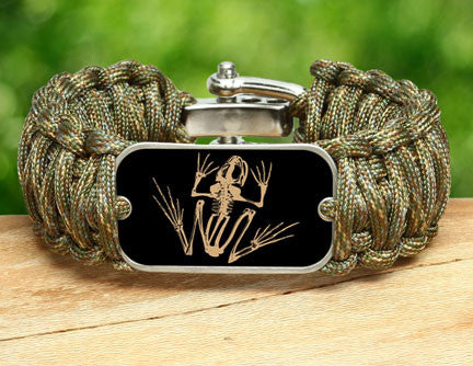 Wide Survival Bracelet™- Navy SEAL Foundation - Bone Frog Matches Multicam®