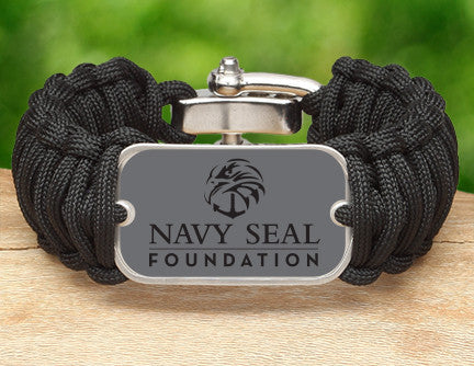 Wide Survival Bracelet™- Navy SEAL Foundation - Stealth